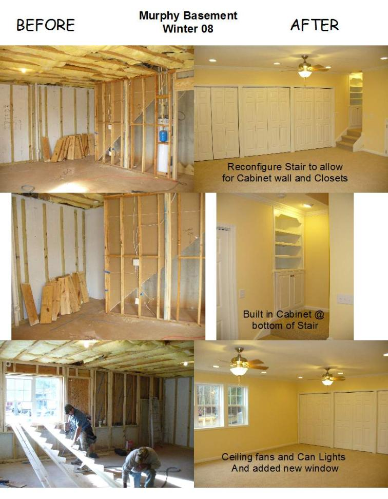 basement remodels before and after. Before And After Of Basement Renovation, Murphy Remodel Remodels
